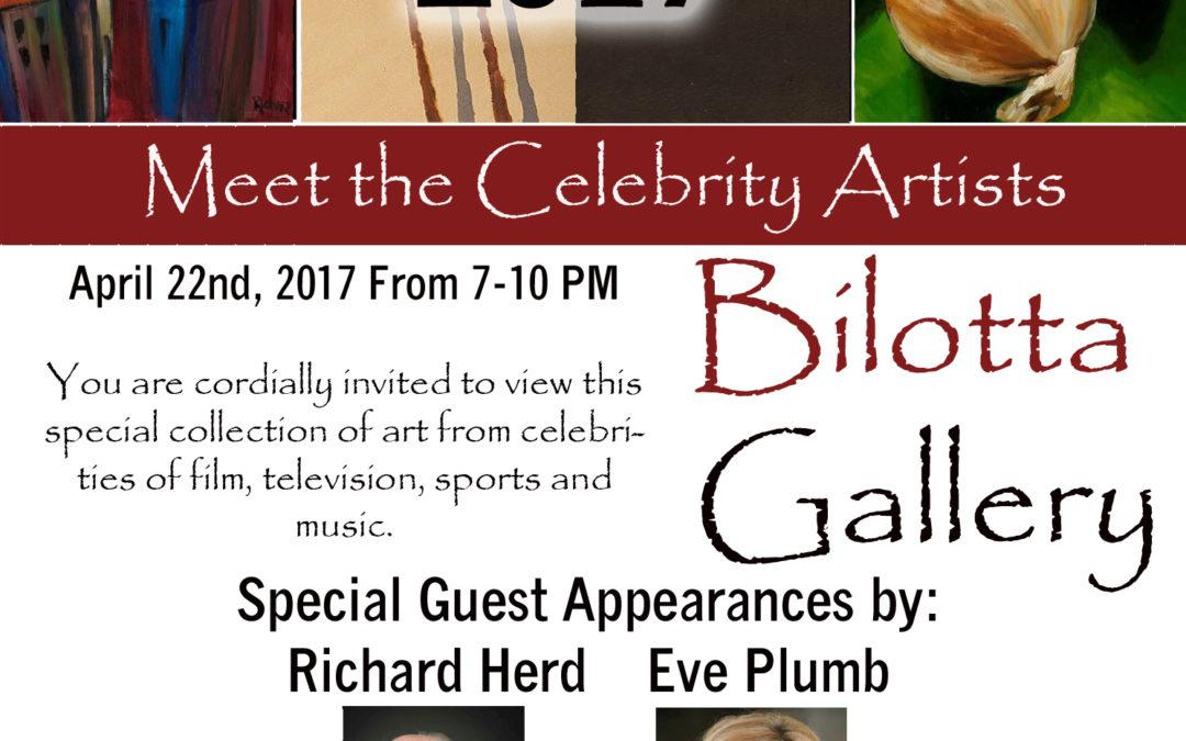 Bilotta Gallery Presents Meet the Celebrity Artists April 22nd 2017