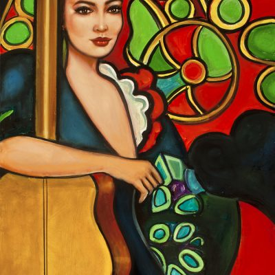 10Spanish Girl with Guitar                   30 x 40
