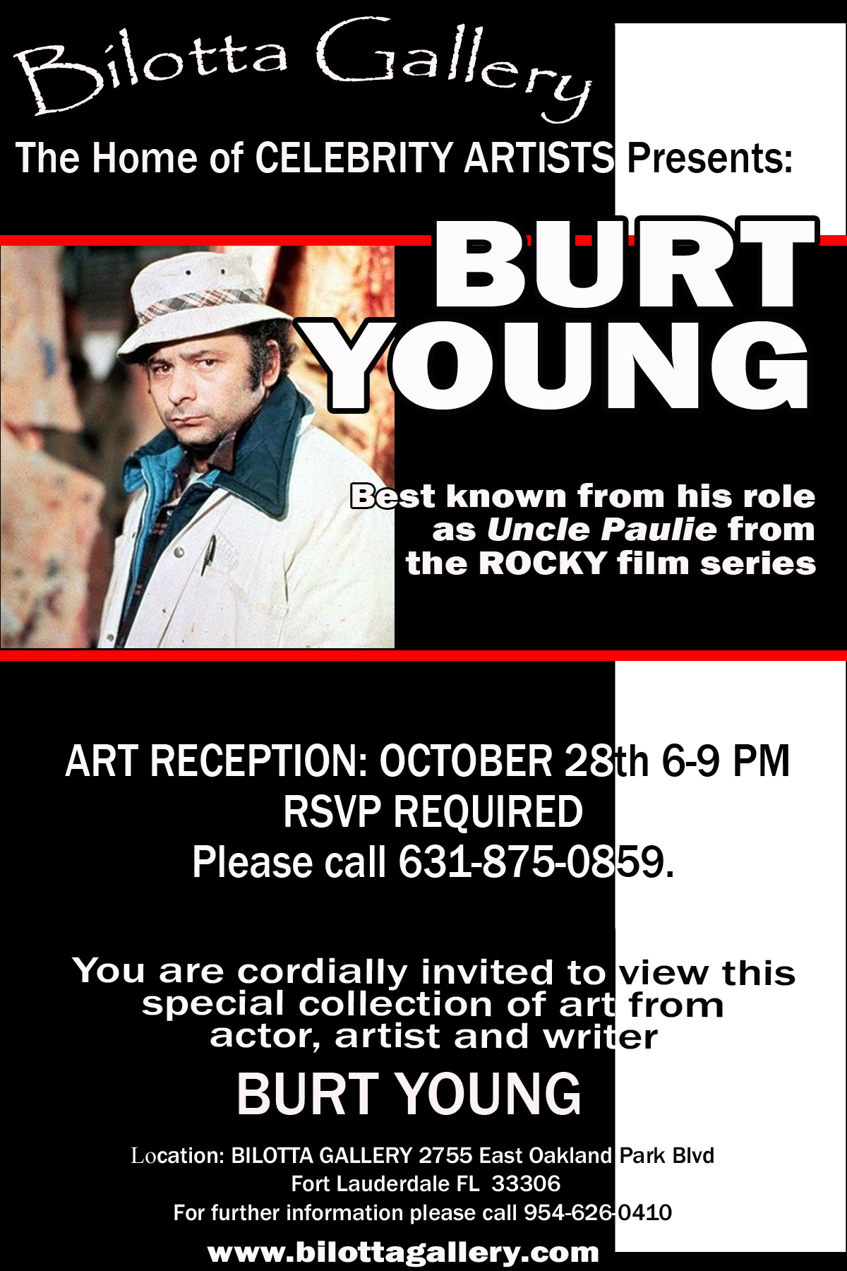 Burt Young Art Reception | Bilotta Gallery