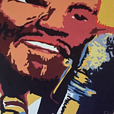 Fats Domino 24 x 24 $4500 2009