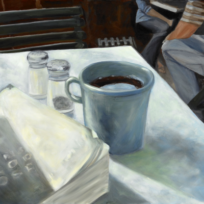 Madison Square and Garden Cafe 30 x 24 4500