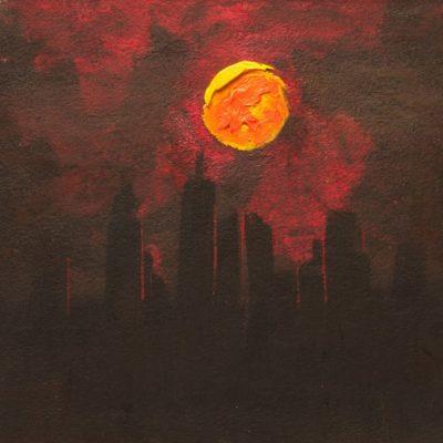 Manhattan Skyline at Dusk 11 x 12 $400