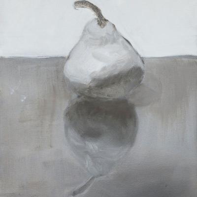 Single pear grey 16 x 8 1100