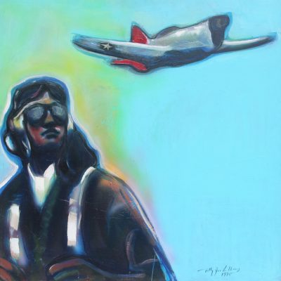 Tuskegee Airman  Oil on Canvas