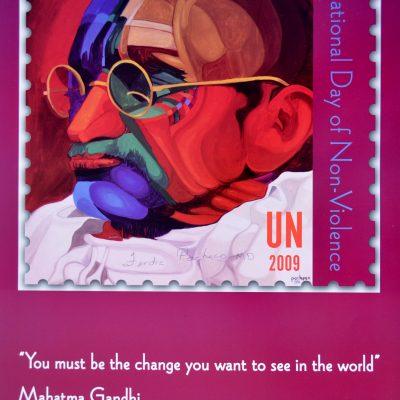 U.N. Postage Stamp Poster Signed 24 x 16 $45.00