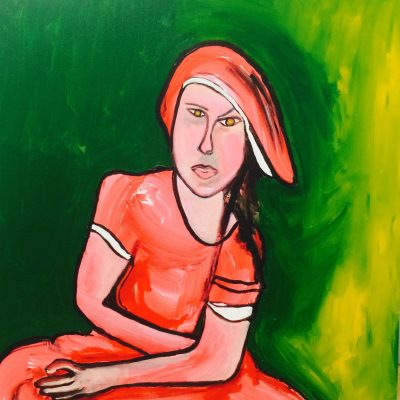 lady in red 36x36