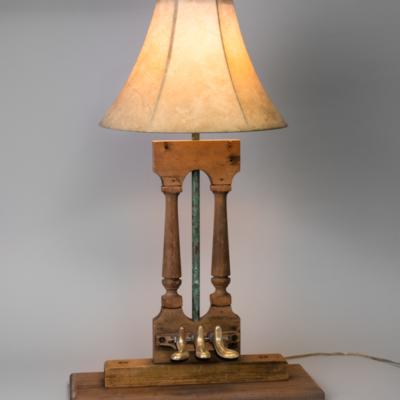 piano wood sculpture lamp 1500
