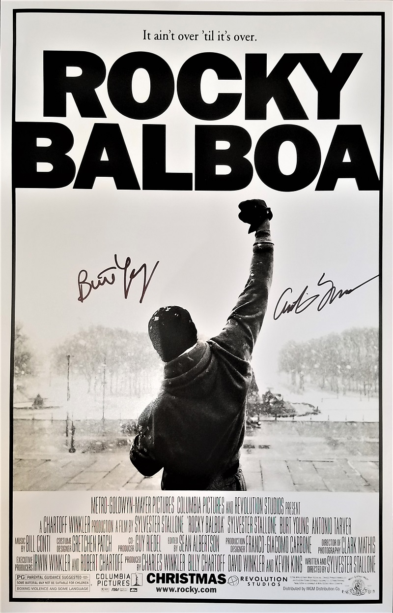 �rocky balboa� poster signed by burt young and antonio